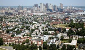 Dorchester Heights in South Boston Aerial