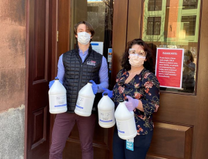 Grand Ten and Core Investments Donate Hand Sanitizer in South Boston